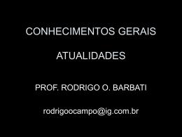 CONHECIMENTOS GERAIS ATUALIDADES