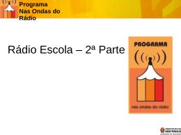 radioescola2 - Secretaria Municipal de Educação