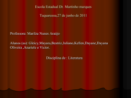 Seminario II- literatura - escola estadual dr martinho marques
