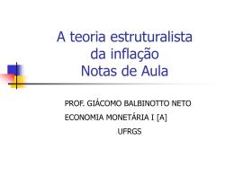 Teoria da Inflação Notas de Aula