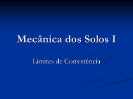 Mecânica dos Solos I - Capítulo V