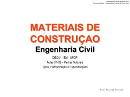 rochas_const_civil - Escola de Minas