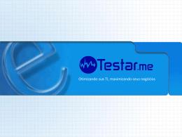 Apresentação teste de software PPT