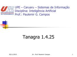 Inteligência Artificial Prof.: Paulemir G. Campos - pgc-upe