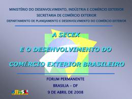 Apresentação - Ministério do Desenvolvimento, Indústria e