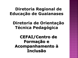 CEI 2 - Secretaria Municipal de Educação