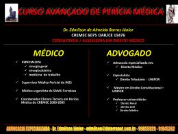 curso avançado de perícia médica - barros consultoria e assessoria