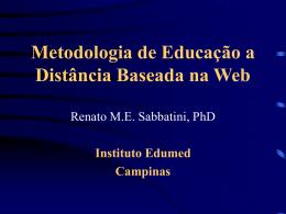 Educaçào a Distância em Saúde Baseada na Web