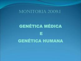 genética médica e genética humana