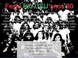Festa USU-Bio anos 80