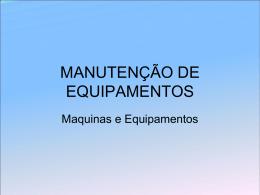 MANUTENÇÃO DE EQUIPAMENTOS1