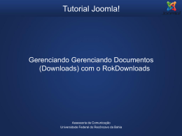 Tutorial Joomla - Gerenciando Downloads com