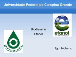 Etanol - Universidade Federal de Campina Grande