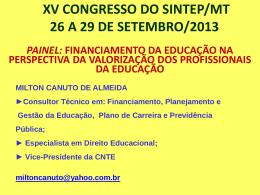 ESCOLA DE GESTORES Financiamento da Educação