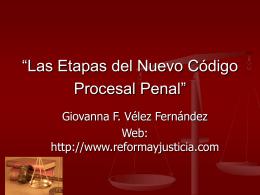 """""""Las Etapas del Nuevo Código Procesal Penal"""""""