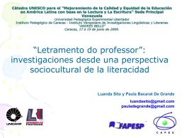 Slide 1 - Letramento do Professor