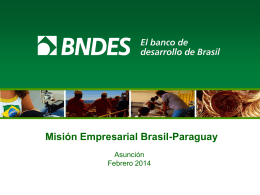 BNDES Palestra Institucional em Espanhol