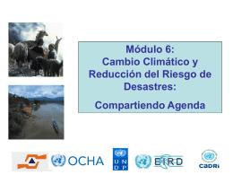 2. RRD y Adaptación al Cambio Climático
