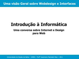 Uma visão Geral sobre Webdesign e Interfaces