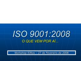 Palestra ISO 9001-2008