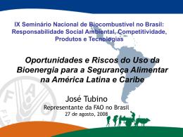 Bioenergía y Seguridad Alimentaria en América Latina y el caribe