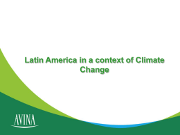 Latin America in a context of Climate Change