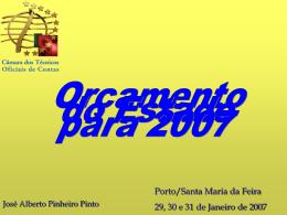 Apresentação: OE 2007 - Técnicos Oficiais de Contas