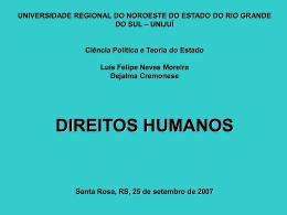 DECLARAÇÃO UNIVERSAL DIREITOS HUMANOS