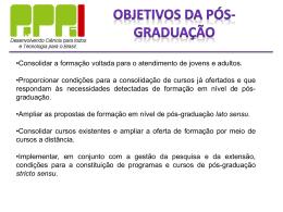 Pró-Reitoria de Pesquisa, Pós Graduação e Inovação