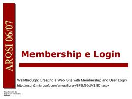 Membership e Login