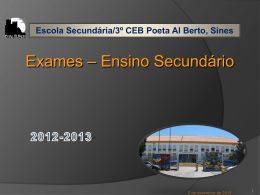 ExamesSec_2012_13 - 3º CEB Poeta Al Berto