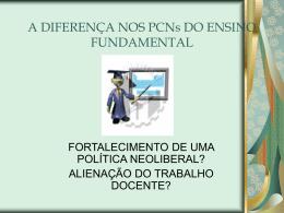 A DIFERENÇA NOS PCNs DO ENSINO FUNDAMENTAL