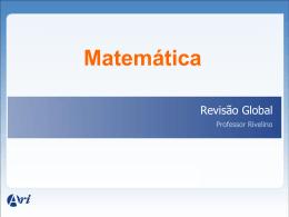 27/03/2012 - Revisão de Álgebra - VG