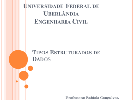 estrutura - Facom - Universidade Federal de Uberlândia
