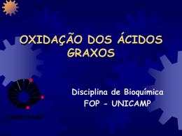 Oxidação de Ácidos Graxos - FOP