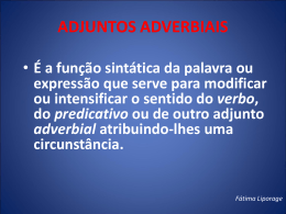 ADJUNTOS ADVERBIAIS