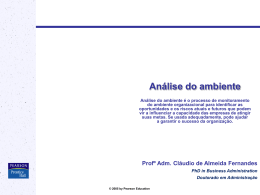 2 Análise do ambiente modificado