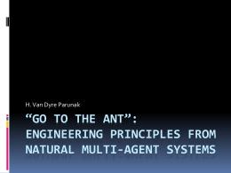 Principios de SMA naturais - Instituto de Computação