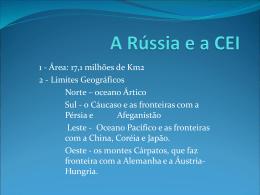 A Rússia e a CEI