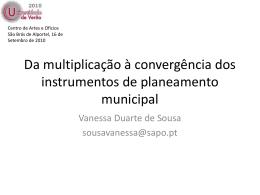 Da multiplicação à convergência dos instrumentos de