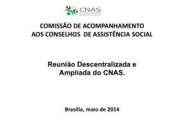 Reunião Descentralizada DF 2014 - Apresentação Aldenora González
