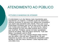 ATENDIMENTO AO PÚBLICO