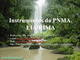 EIA - Direito Ambiental - Profª. Marli Deon Sette