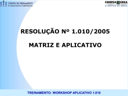 TREINAMENTO: WORKSHOP APLICATIVO 1.010