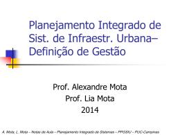 Conceito de Gestao - Planejamento Integrado de Sistemas