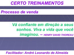 Facilitador: André Leonardo de Almeida
