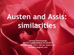 Jane Austen e Machado de Assis: convergências
