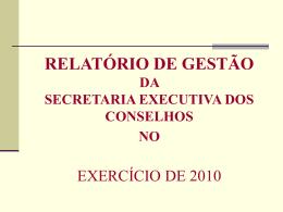 relatorio do conselho