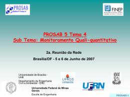 PROSAB 5 - Reunião 2 - Brasília
