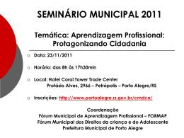 Reunião CEP – 15/05/2009